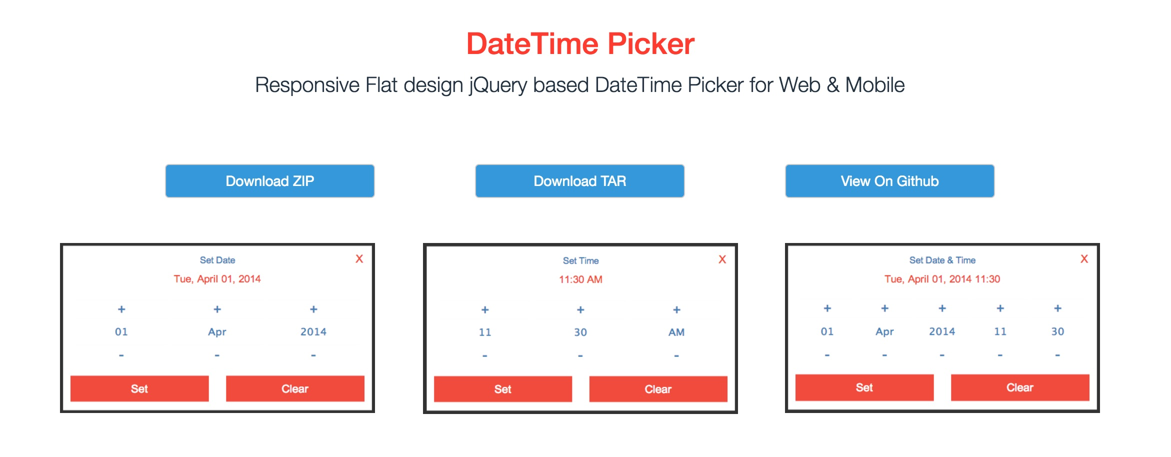 DateTime Picker by CuriousSolutions