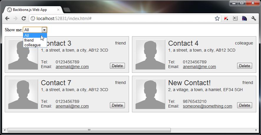 Создаём менеджер контактов на Backbone.js