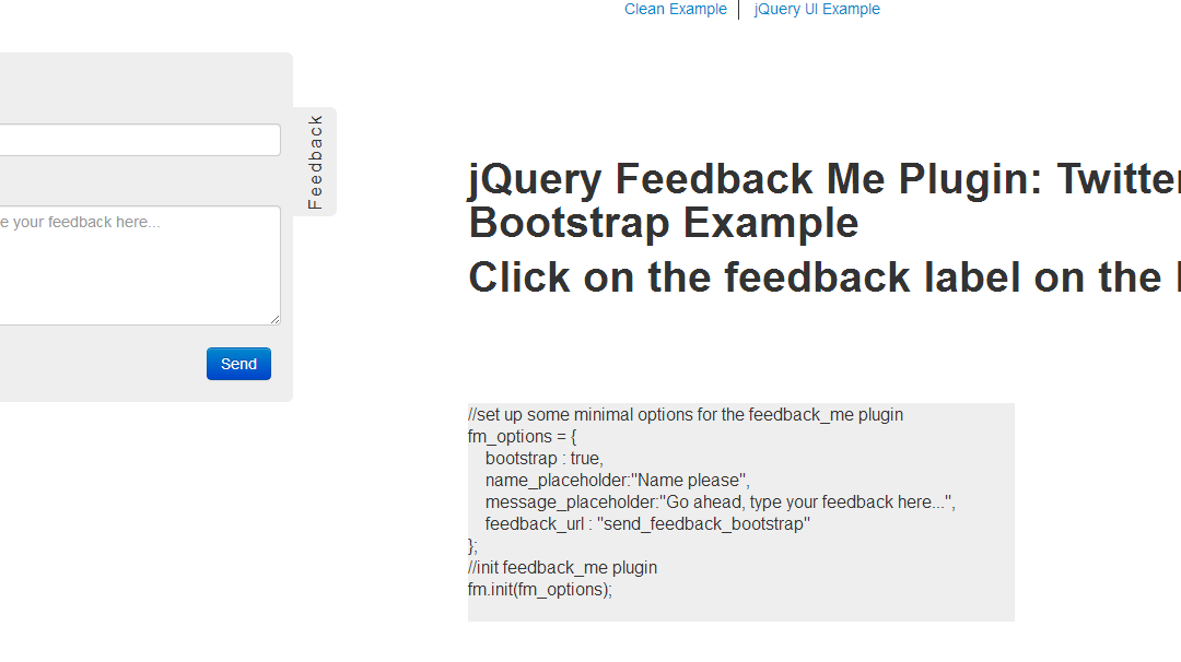 jQuery Feedback Me Plugin