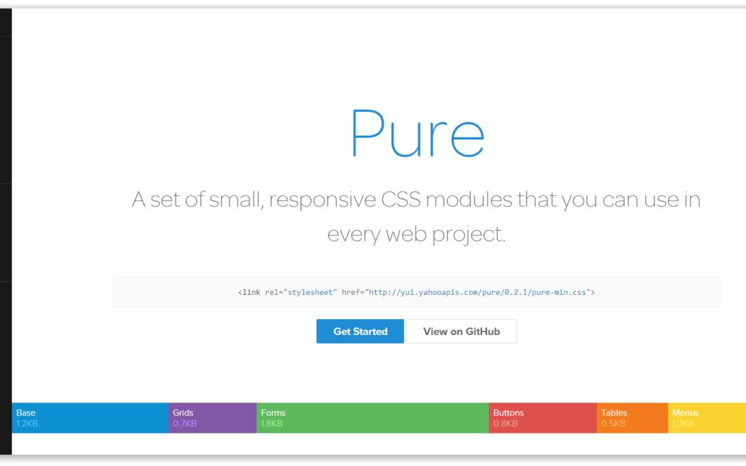 purecss.io — фреймворк для CSS от Yahoo