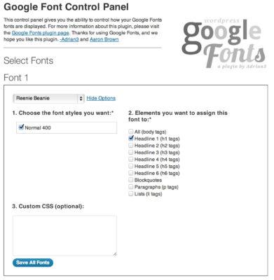 WP Google Fonts — быстро настраиваем шрифты Google, с русификацией (поддержкой кириллицы)
