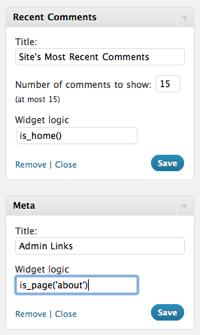 Widget Logic — управляем логикой вывода виджетов в WordPress