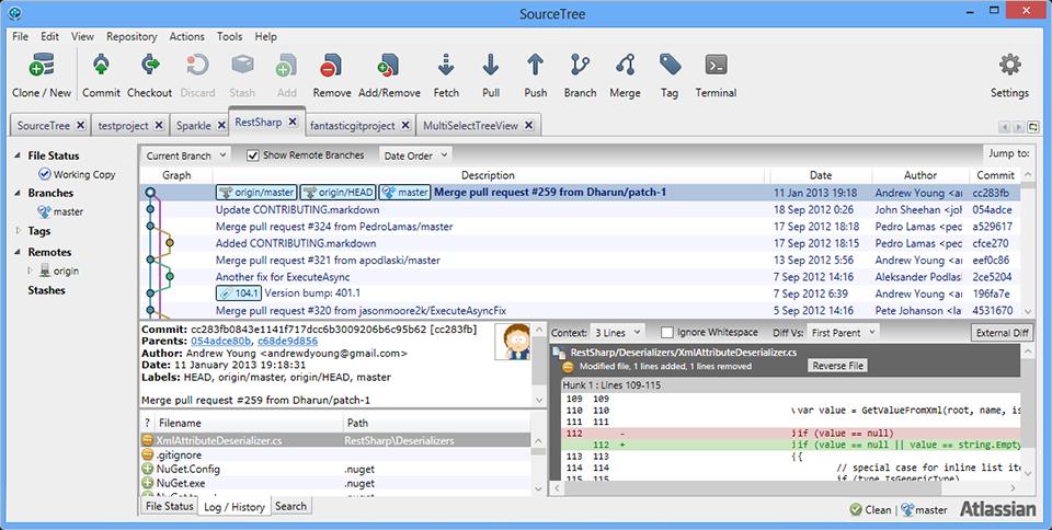 SourceTree — GIT клиент под Windows & Mac