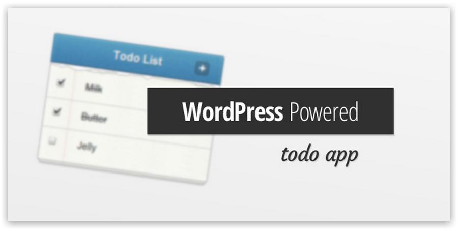 Todo List App Powered By WordPress