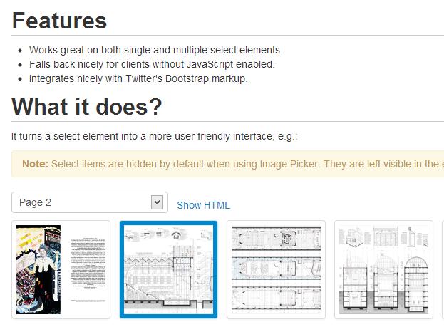 Image Picker — jQuery обертка для элементов SELECT с возможностью выбора картинки