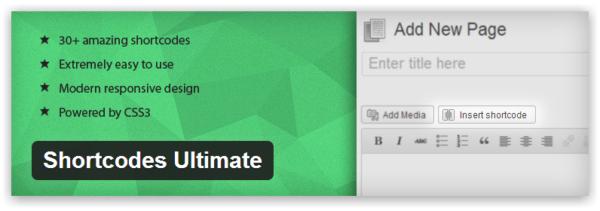 Shortcodes Ultimate — лучшее расширение для оформления страниц в WordPress на базе шорткодов