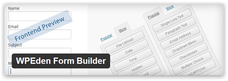 WPEden Form Builder — простой генератор форм для WordPress