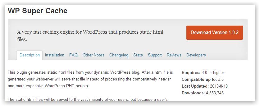 WP Super Cache — кешируем и ускоряем сайт на WordPress за 3 клика и 1 минуту