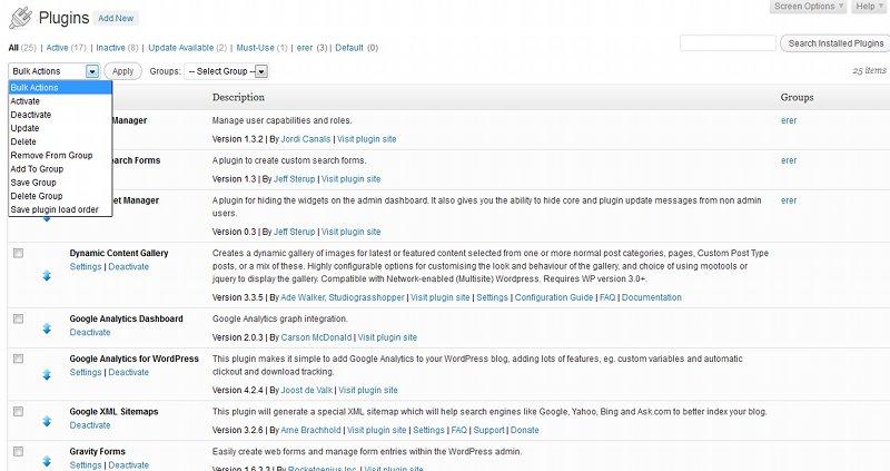 Plugin Organizer (организация плагинов WordPress)