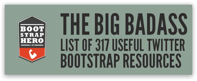 Bootstrap Hero — подборка компонентов для Bootstrap