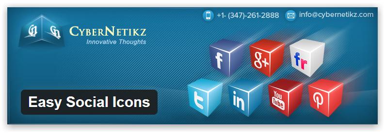 Easy Social Icons — плагин, который добавляет простой способ сделать виджет с социальными иконками