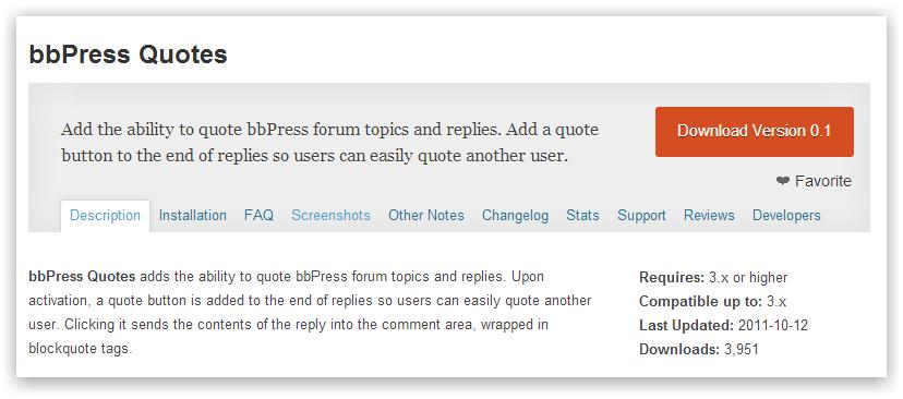 bbPress Quotes — цитирование