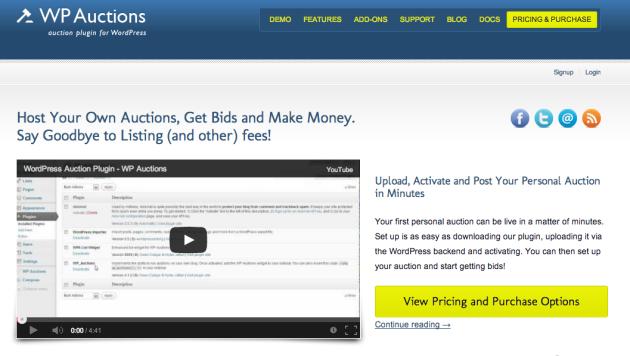 WordPress. Подборка плагинов для проведения аукциона