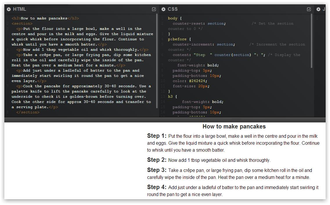Учимся считать средствами CSS