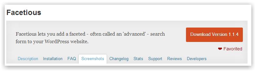 Facetious — поиск с отбором по терминам и типам постов