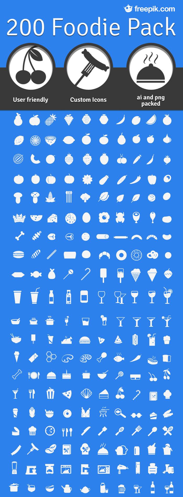 12 подборок иконок с плоским дизайном