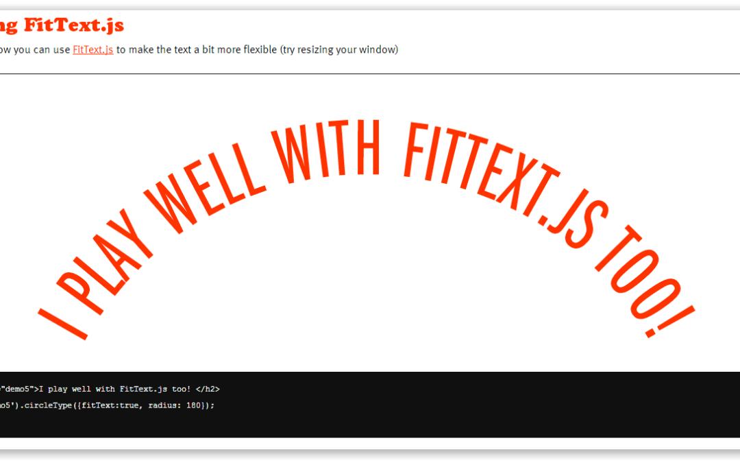 Circletype.js — сворачиваем текст в баранку
