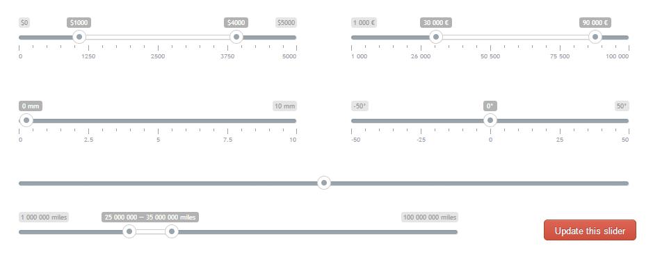 Ion.RangeSlider — слайдер выбора значений