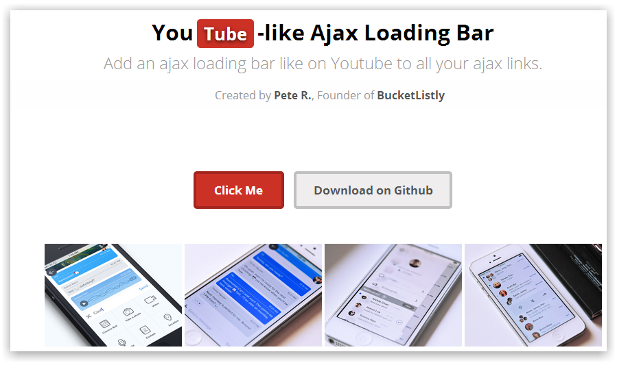 YouTube-like Ajax Loading Bar (прогресс бар загрузки как на YouTube)