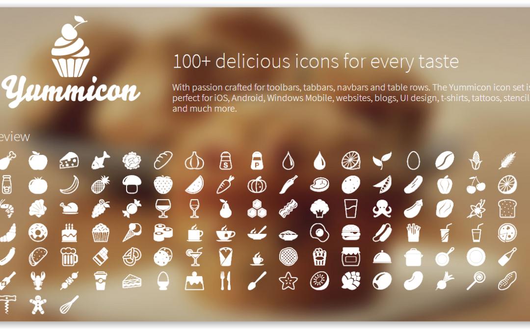Yummicon — набор иконок продуктов питания