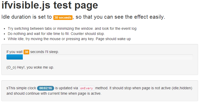 ifvisible.js — скрипт, проверяющий активность пользователя на странице