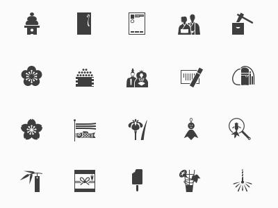 Комплект иконок на тему Японии
