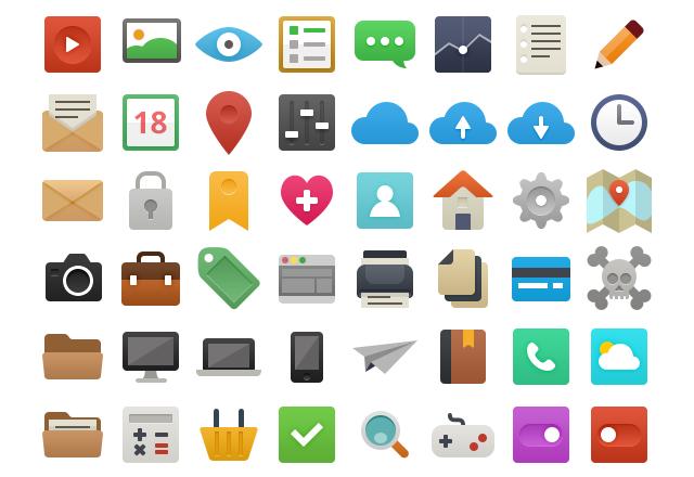 Бесплатная подборка из 48 иконок