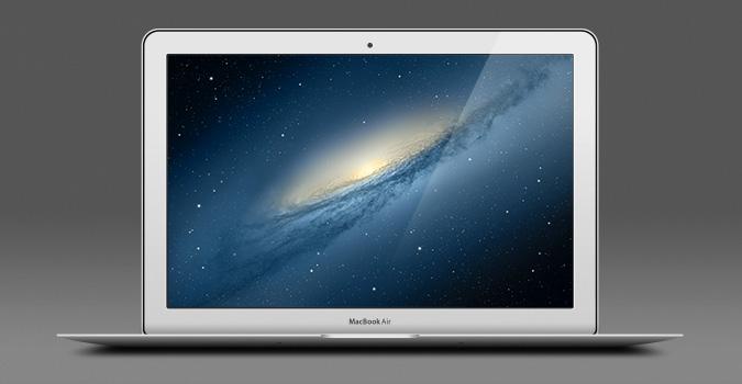 Мокап Apple MacBook Air 13″ (PSD)