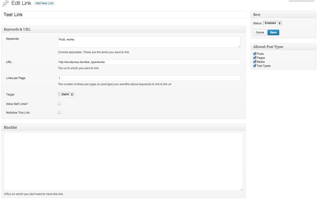 SEO Auto Linker — внутренняя перелинковка страниц сайта на базе WordPress