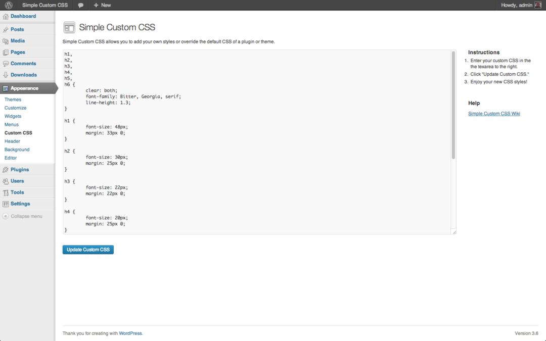 Simple Custom CSS — расширение для правки стилей на сайте