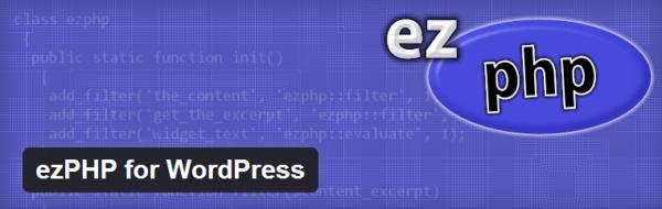 ezPHP for WordPress — простой способ вставить php код на страницу или текстовый виджет