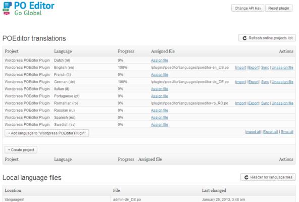 POEditor — как веб приложение и как расширение для WordPress