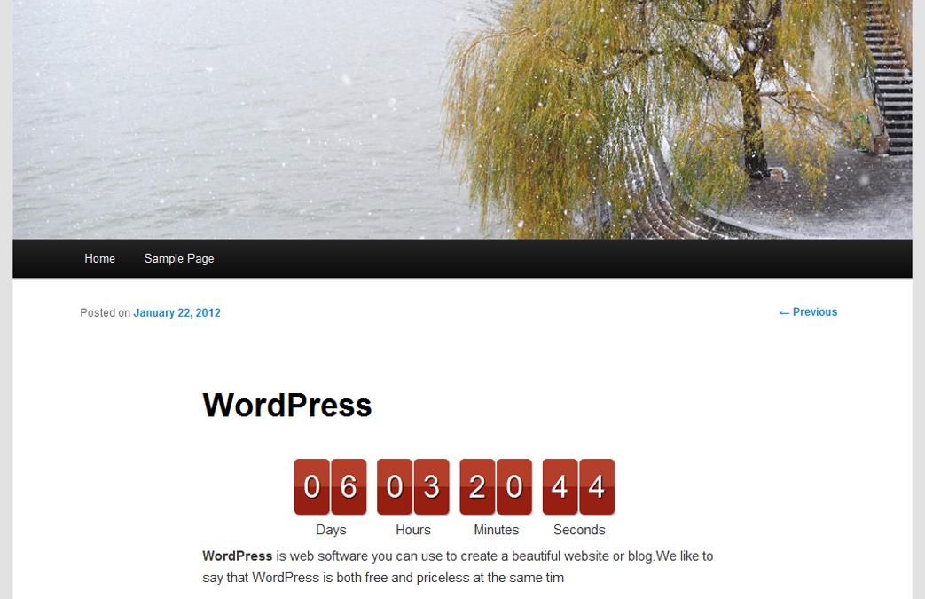 Uji Countdown — таймер обратного отсчета (счетчик) для WordPress