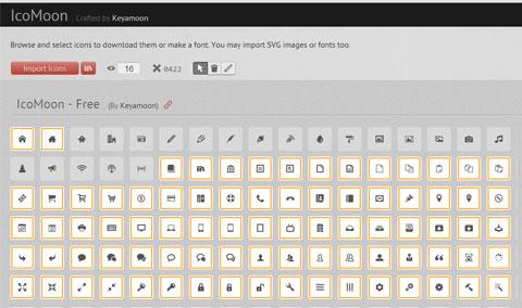 Онлайн генератор шрифта с иконками — IcoMoon