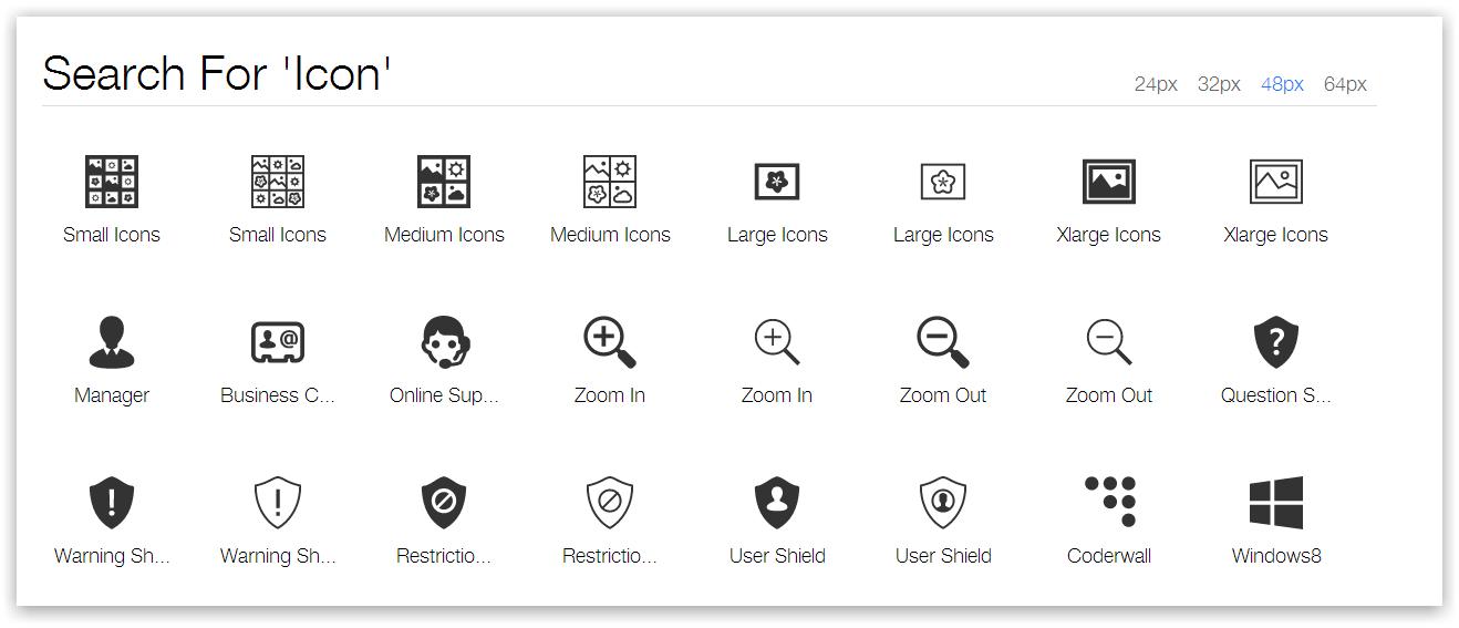 2800 иконок + приложение, позволяющее удобно вставить их прямо в Photoshop или Xcode