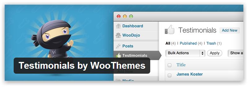 Testimonials by WooThemes — плагин отзывов для WordPress от команды WooThemes