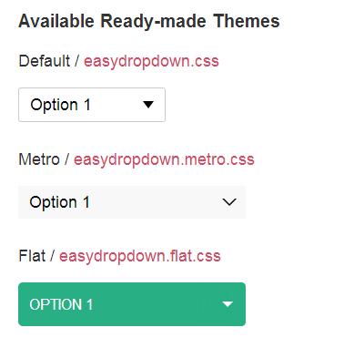 jQuery EasyDropDown — стилизация селектов