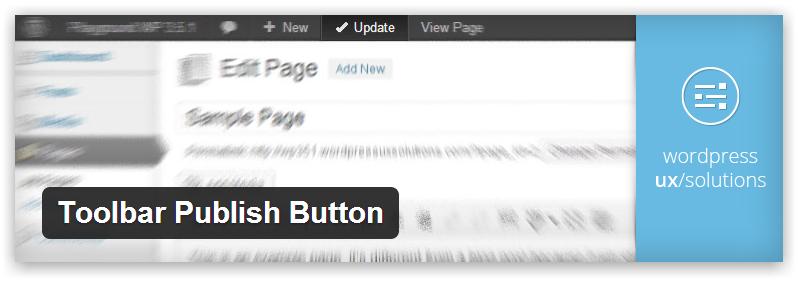 Toolbar Publish Button — кнопка Опубликовать и Обновить в панели инструментов WordPress