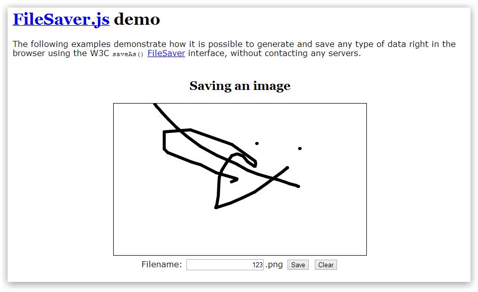 FileSaver.js — сохранение файла методами HTML5