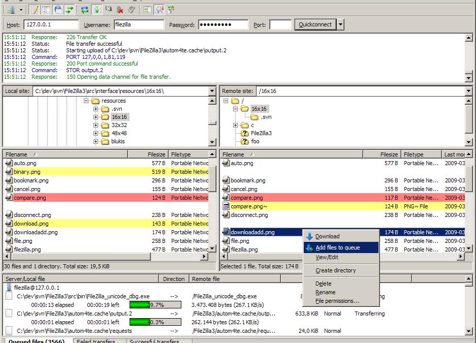 Сегодня открыл для себя заново FileZilla для работы по FTP :)