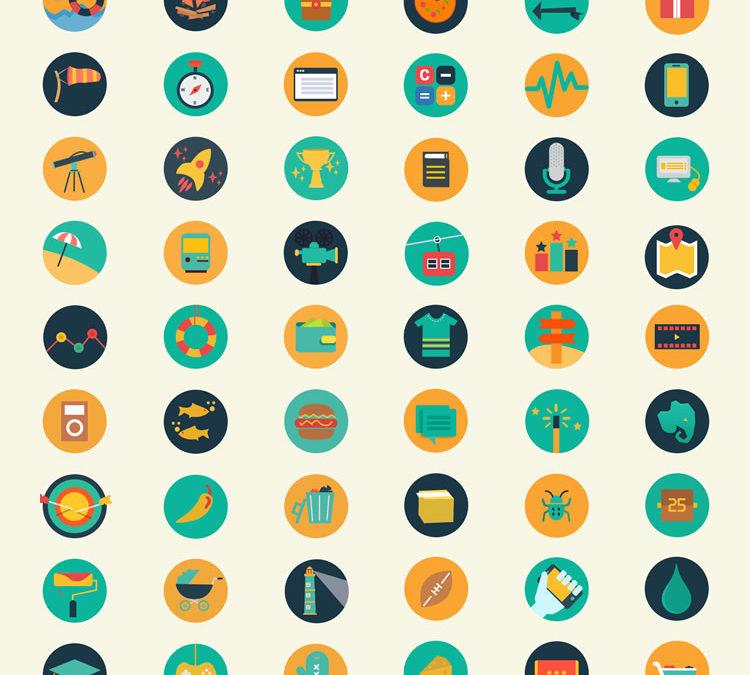 Meroo — 110 плоских иконок