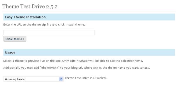 Theme Test Drive — проверяем тему на сайте