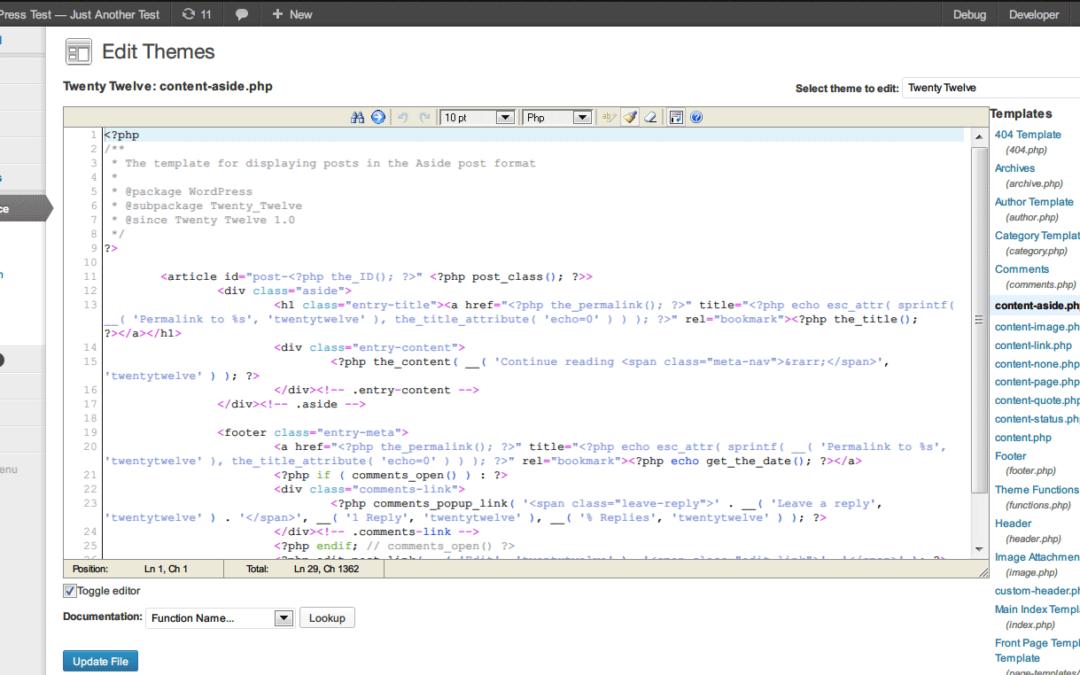 WP Editarea — повышаем удобство правки кода прямо в консоли сайта