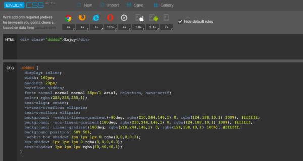 enjoycss.com — крутой, простой и понятный генератор CSS с опциями кросбраузерности
