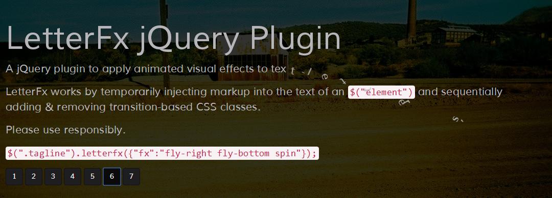 LetterFx jQuery Plugin — спецэффекты с текстом на странице