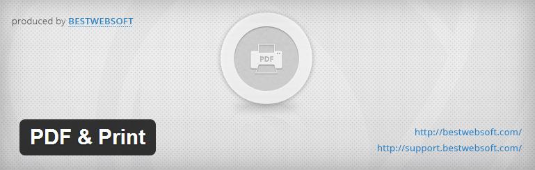 PDF & Print — отличный плагин для генерации форм печати и PDF из постов WordPress с поддержкой русского языка