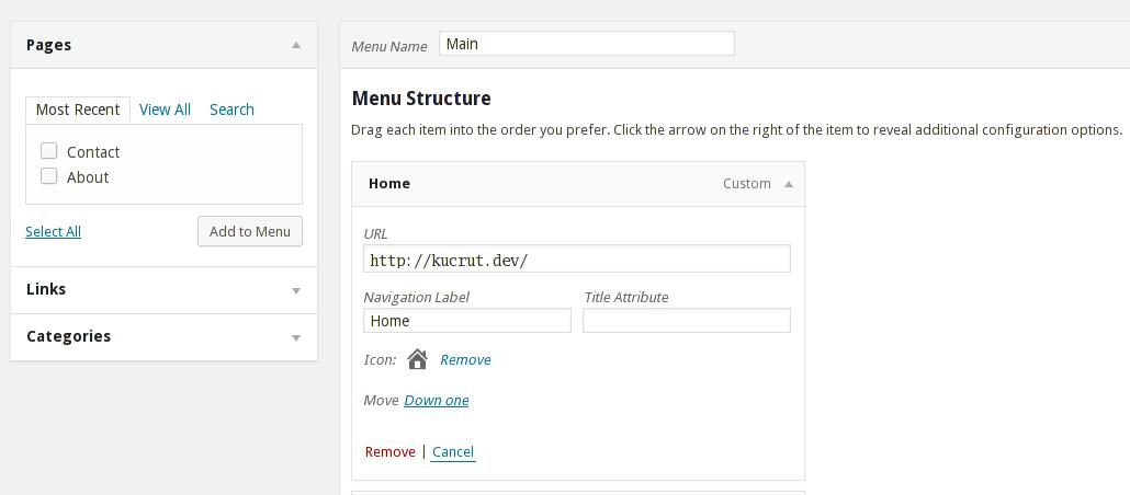 Menu Icons — ставим иконки для меню