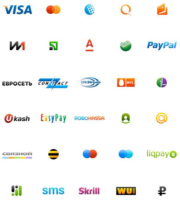 Иконки русских платежных систем