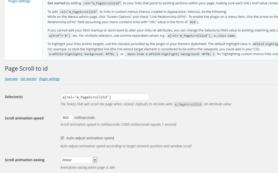 Page scroll to id — расширение для jQuery и WordPress, которое обеспечивает эффектную и плавную прокрутку до нужной секции