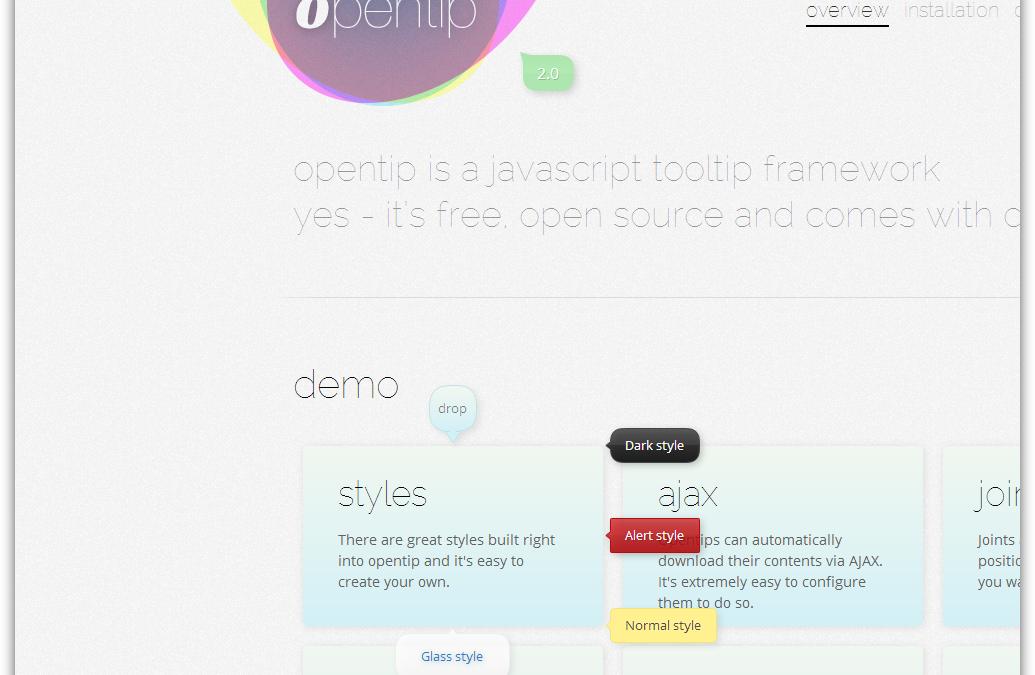 opentip — тултип на базе JS